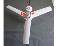Wholesale MINI Electric ceiling fan W Leaves Brushless Converter Plastic fan DC V DHL