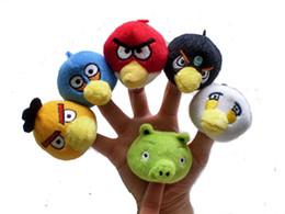Wholesale Birds Finger Puppets Animals Set Baby Dolls Plush Toy Talking Props Animal Doll Set Toys Multi function Educational Toys