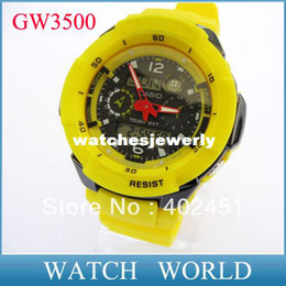 Wholesale GW3500 sports digital watch worldtime watches gw wristwatch ATM water resistant