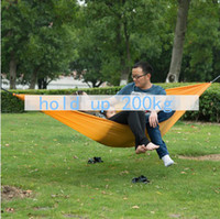 Nylon Outdoor Furniture Yes NatureHike-NH ultralight parachute cloth 2 people hammock use in tourism outdoor furniture garden swing orange