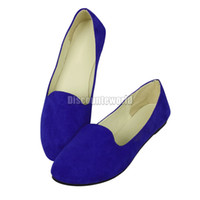 ballerina shoes - Hot Sale New Ladies Womens Faux Suede Leather Ballet Ballerina Flat Dolly Shoes Pumps ex46 MOQ