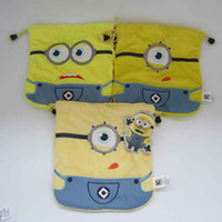 Wholesale High Qualtiy and Cute Minions Receive Bag Cartoon Cute Despicable Me Bag styles