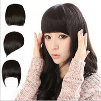 Wholesale 6PCS Colors Hair Styling Synthetic Hair Front Bangs Clip In Synthetic Hairpiece Fashion Synthetic Hair Bang Fringe Extensions