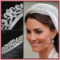 Wholesale Free Shpipping Exquisite Gorgeous Luxury Classic Bride European Rhinestone Bridal Hair Crown Tiara wedding dress accessories