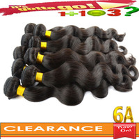 Wholesale Clearance Sale Buy Get FREE Hair A Virgin Brazilian Peruvian Indian Malaysian Human Hair Extensions Body Wave Hair Weave Can Returns