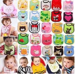 Wholesale Cute Infant saliva towels layer Baby Waterproof bibs Baby wear accessories kids cotton apron handkerchief children animal bib CD09001