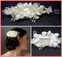 Fascinators Rhinestone/Crystal Silver Plated Wholesale-Free Shpipping Hand made hair accessories Bridal hair comb Clip flower feather fascinator women wedding party use