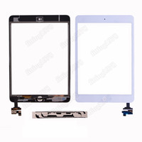 Wholesale 20 Touch Screen Glass Digitizer Replacement white Black For iPad Mini With IC adhesive camera bracket by free DHL EMS