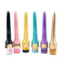 Wholesale 2014 New Arrival Cute Doll Liquid Eyeliner Slide on Pencil Waterproof D Black Fast Dry Free Shpping