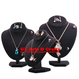 Necklace Display Stand Mannequin Necklace + Earring + Ring Holder Set Jewelry Display Stand