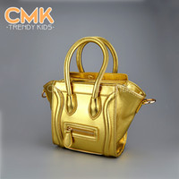 Wholesale CMK KB068 PU Leather Colors Mini Size cm Messenger Bag for Kids Children s Handbag Children School Bags for Girls amp Women Freeshippin