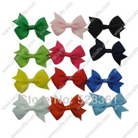 """Hair Ribbons Lace Animal 30pcs 2"""" Solid Grosgrain Pinwheel Pigtail Hair Bow Clips Wholesale Boutique Baby Girl Fashion Hair Accessory 12 Available Colors"""
