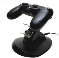 PS4   1pcs black 2014 new Dual USB Charging Dock Station Stand for sony playstation 4 PS4 control charger