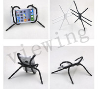 Wholesale Phone Holder Flexible Universal Phone Mount Holder and Stand Spider Holder Fold For iPhone S and Andriod Phones SmartPhone