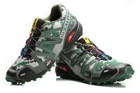 Wholesale Camo Green Salomon Speedcross CS Athletic Shoes Professional EVA Midsole Sports Shoes High Mileage Runing Shoes Zapatillas size