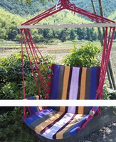 Nylon Outdoor Furniture China (Mainland) In stock Deluxe Outdoor Colorful Canvas Hanging Hammock Sky Swing Chair For Single