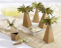 Wholesale 2014 Newest Wedding Favor box Palm Tree Wedding candy box For Wedding favors and Gifts Factory Direct Sale