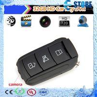 Less than 2'' Less than 10x 720P (HD) V19 32GB HD 720P Anti--theft Remote Control Car Key Keychain Camera Cam Mini Hidden DVR Video Recorder IR Night Vision U disk,M