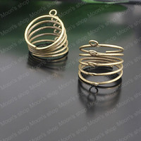Couple Rings Jewelry Findings Metal (J-M3150) Wholesale 21mm Antique Bronze Spring Iron Ring settings DIY Fashion Findings Accessories 10 pieces