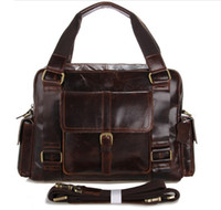 Wholesale Brand New Brand New Men Genuine Leather Coffee Mens Messenger Bag Handbags Shoulder Bag