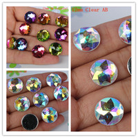 Wholesale mm mm AB Color Acrylic Flat Back Beads Rhinestones Round Circle Acrylic Rhinestone crafts Scrapbook