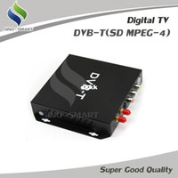 Wholesale External DVB T SD MPEG4 digital TV box for car DVD Monitor Audio DVB T Set Top Box CVBS video and L R audio output