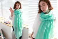 The new 2014 pure color cotton and linen scarf, autumn and w...