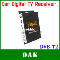 PVRs DVB-S  new Wholesale-Free Shipping - 2014 New High Speed HD Car DVB-T2 Digital TV Receiver DVB-T2 Set Top Box Up to 120Km h Support HDMI