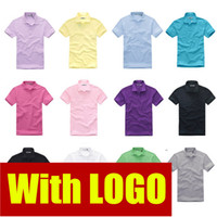 Wholesale 2014 New brand Top quality Cotton sport polo shirt Short sleeve fashion men s T shirt colors S XXXL