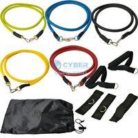 Wholesale Portable Set Yoga Fitness Equipment Elastic Resistance Bands Exercise Elastic Training Bands