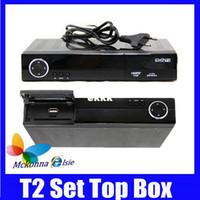 PVRs DVB-S oem Wholesale-2Pcs lot Hot! HD Support HDMI DVB-T2 MPEG-2 MPEG-4 H.264 Digital Terrestrial Receiver Set Top Box TV Receiver DVB T2 Tuner
