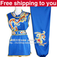 Wholesale Customize Chinese wushu uniform Kungfu clothing exercise suit Martial arts cloud embroidery man woman little girl boy children
