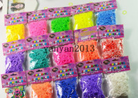 Wholesale Colorful Rainbow Loom kit late Rubber band loom Bands bracelet amazing gift for children single colors handmade DIY bands S