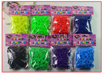 Wholesale Colorful Rainbow Loom kit late Rubber band loom Bands bracelet amazing gift for children Mixed colors handmade DIY New Hot Fedex Free
