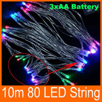 battery powered leds - 10m Battery Operated Led String Light Leds Christmas Party Wedding Holiday Portable Battery Powered Fairy Light String Lamp