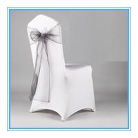 Wholesale Orangza Wedding Chair Cover Sash For Wedding Chair Decoration