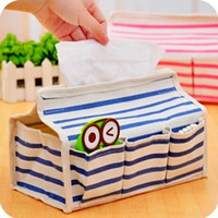 Wholesale Multifunction linen cotten storage bag box for TISSUE Paper small gadgets etc Hot popular novel practical storage boxes bags for napkins