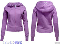 Wholesale Lululemon Hooded Jacket High Quality Womens Scuba Hoodies Lulu lemon Yoga Clothing Hoodies Sweater Hoody