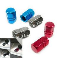 aluminum rims for cars - High quality aluminum air valve cover cap red for tire stem wheel rim tyre all car universal