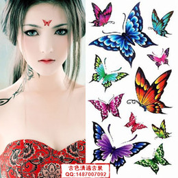 Wholesale Animal costume stickers personalized plates woman studio portrait butterfly tattoo sticker waterproof sticker