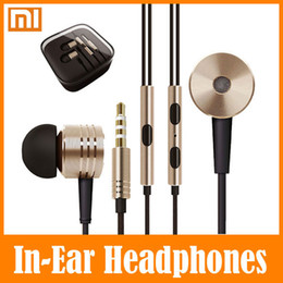 Discount headphones iphone 5pcs 5PCS Xiaomi Piston In Ear Headphone Earphones With Mic Best Rated Best Value Headset Noise Reduction Earphone For iPhone Sumsung Htc PC MP3
