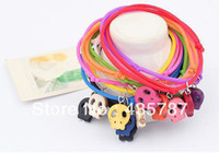 Slap & Snap Bracelets Women's Fashion Color fashion thriller multiple skull bracelet,plastic cement brand for women 12pcs set send color by mix random