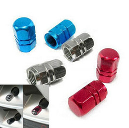 Good quality aluminum air valve cover cap red for tire stem wheel rim tyre all car universal 40pcs