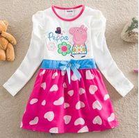TuTu Spring / Autumn A-Line 2014 New Fashion Baby Girl Summer Peppa Pig Dresses Vestido Princesa Children Wear