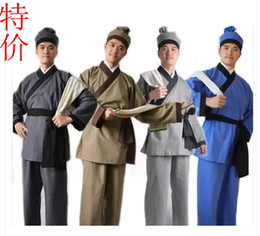 Small two costumes   costume civilians hanfu   TV people performing service   restaurant overalls adult men