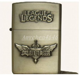 LOL League games and creative crafts metal embossed Wind kerosene lighter