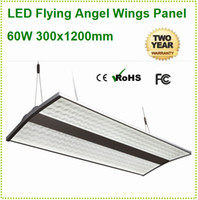 No 85-265V 3014 4pcs 60w 300x1200mm Hot Sales led flying angel wings pendant chandelier light modern lighting fixtures square ceiling lights free shipping