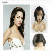Wholesale New Glueless Front Lace Celebrity Hairstyle quot quot Natural Straight Natural Color Human Hair Wigs
