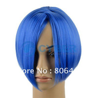 Wholesale Fashion Magical Cartoon Girl Small Short Round Straight Blue Cosplay Hair Wig Synthetic Wigs
