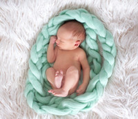 Wholesale MODEL DJ Whole sale wool fiber blanket basket filler stuffer newborn photography props